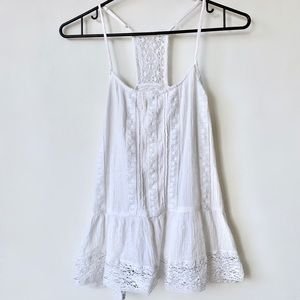 Mossimo Lace Cami Tank 100% Cotton in White